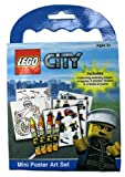 Lego City Police Mini Poster Art Set, inc. Crayons, Stickers & Colouring