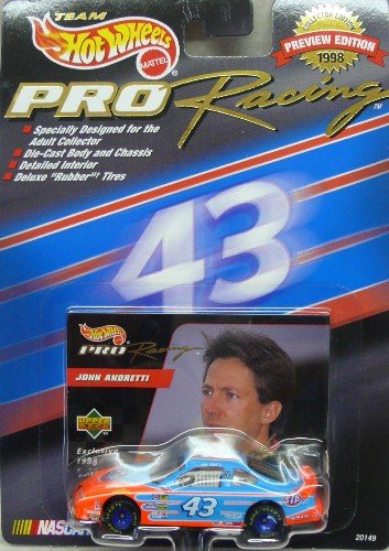 Hot Wheels Pro Racing - 1998 - Preview Edition - John Andretti - No. 43 STP Pontiac Grand Prix - 1:64 Scale Diecast Collectible
