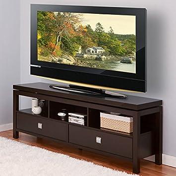 Mara Espresso Finish Storage Cabinet TV Stand Console