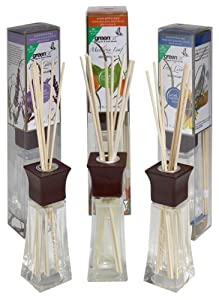 Greenair All Natural Reed Diffuser Set of 3, Fresh Linen, Mandarin Leaf, and French  Lavender, 6.6-Ounce