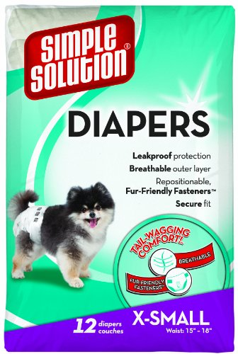 Simple Solution Disposable Diapers, X-Small, 12-Count
