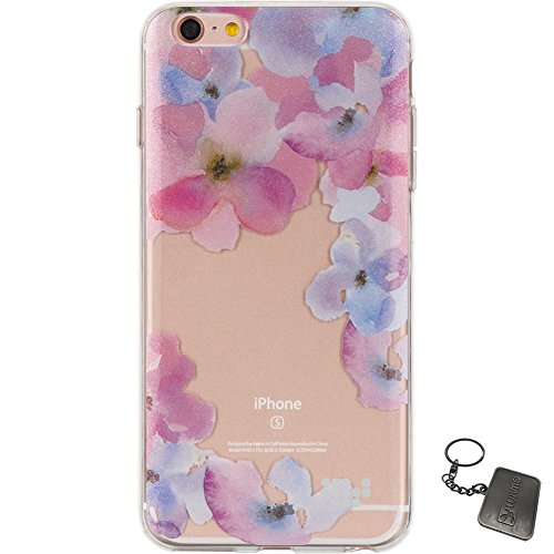 iPhone 6 Plus/6S Plus Case, Luxmo® [Ultra Slim Watercolor] Premium Semi-Transparent Crystal Clear TPU Case (Be Enchanted)