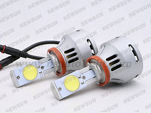 Newsun 2014 Newest H9 Led Headlight 35W 3600Lm Super Bright Car H9 Headlamp Bulb Cree Led Chips Xenon White Led Fog Light Bulb