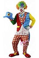 ピエロ 衣装 フルセット 大人用 【服+手袋+帽子+マスク+カラーアフロ】 コスプレ ピエロ衣装