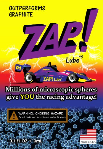Zap! Lube(TM) Micro-sphere Lubricant - An Outstanding Lubricant for Your Cub Scout Pinewood Derby, Awana Race, or YMCA Cars (Graphite Free!)