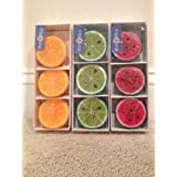 Fun In The Sun Fruit Shaped Candles - Set Of 3 Packs