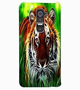 ColourCraft Tiger Look Design Back Case Cover for LG G2