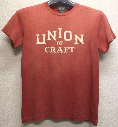 (ダブルアールエル) RRLヴィンテージ加工 ロゴ プリント Tシャツ ウォッシュド レッド M 並行輸入品