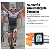 Suaoki-Wireless-Bike-Computer-Bicycle-Speedometer-Bike-Odometer-with-LCD-Backlight-5-Language-Displays-Auto-Power-OnOff-Systems-Multi-Function-for-Cyling