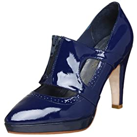 Laura Brandon Patek Pump - Free Overnight Shipping & Return Shipping: Endless.com :  blue platform pump heel