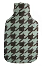 Warm Tradition HANDSOME HOUNDSTOOTH Print Fleece Covered Hot Water Bottle - Bottle made in Germany, Cover made in USA