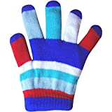 Children's Padded Colourful Magic Rainbow Winter Stretch Gloves