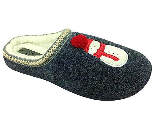 Jo & Joes - Pantofole da ragazza' Unisex per bambini donna Ragazzi , (Uomo di neve), 37 EU