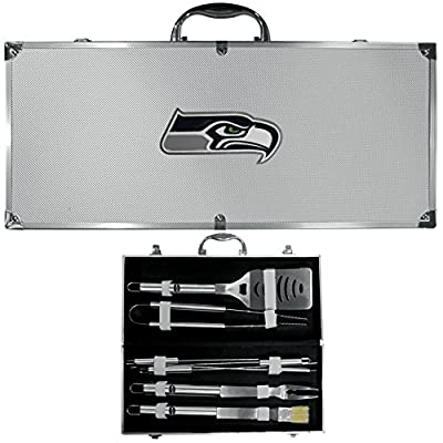 Seattle Seahawks Nfl 8pc Bbq Tools Set