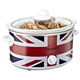 Crock-Pot SCV400UJ-060 Union Jack Slow Cooker, 3.5 Litre