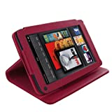 Akis® Kindle Fire 1st Generation Wallet Case Cover in Hot Pink