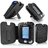 Gadget Giant ® VTech InnoTab 3 Black Leather Wallet Case Cover Stand Protector - Cute Fun Kiddy Design