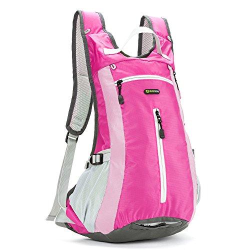 Zaino per Trekking, Evecase 15L Leggero Borsa da Viaggio per Attività all'aperto/Escursione/Jogging/Campeggio/Ciclismo - Rosa