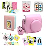 Fujifilm Instax Mini 8 Instant Camera Accessory Bundles Set (Included: Pink Mini 8 Vintage Case Bag/ Pink Diamond Style Instax Mini Book Album / Pink Rabbit Design Mini 8 Close-Up Lens(Self-Portrait Mirror)/ Colorful Close-Up Lens For Mini 8/ Wall Decor Hanging Frame/ 3 Inch Photo Frame/ Colorful Decor Sticker Borders)