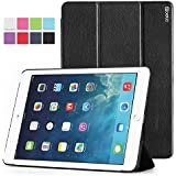 iPad Air Case - Poetic iPad Air Case [Slimline Series] - [Lightweight] [Ultra-slim] PU Leather Slim-Fit Trifold Cover Stand Folio Case for Apple iPad Air (5th Generation iPad) Black (3 Year Manufacturer Warranty From Poetic)