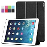 iPad Air 2 Case - Poetic Apple iPad Air 2 Case [Slimline Series] - PU Leather Trifold Cover Case for Apple iPad Air 2 (2014) Black (3-Year Manufacturer Warranty From Poetic)
