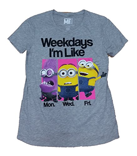 Minions Weekdays I'm Like Licensed Graphic T-Shirt