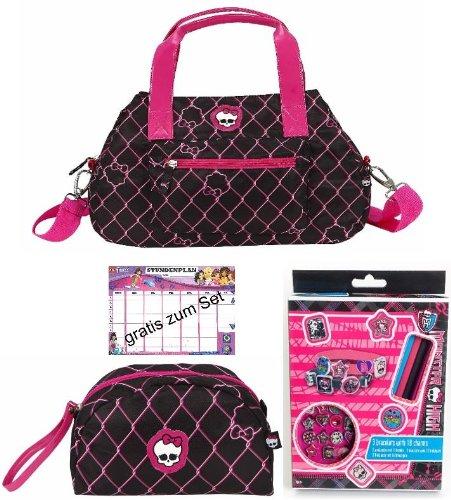 MONSTER HIGH Handtasche + Kosmetiktasche + Armbänder zum Selbstgestalte