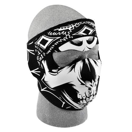 ZANheadgear Neoprene Lethal Threat Gangster Skull Face Mask