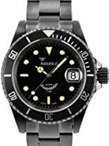 Squale 200 meter Classic Swiss Automatic Dive Watch with Sapphire Crystal 1545-C-DLC