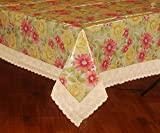 Bianca Pansy PVC Table Cloth - Pink and Yellow (TC206)
