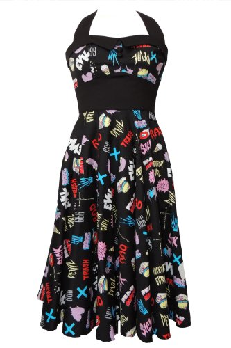 Hell Bunny Horror Gurl 50's Dress XS - UK 6 / EU 34