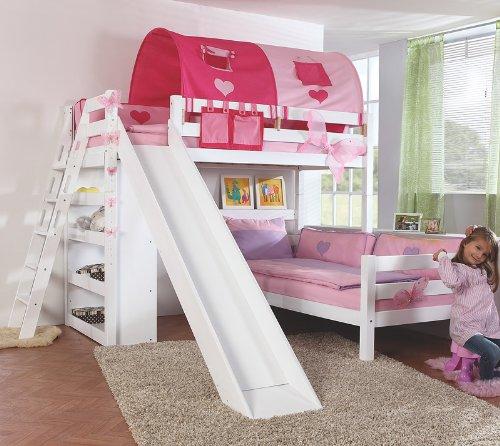 Etagenbett Set »4 DREAMS« in Buche massiv weiß lackiert günstig kaufen