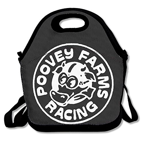 Poovey Farms Racing Logo Lunch Bag Lunch Tote, Waterproof Outdoor Travel Picnic Lunch Box Bag Tote With Zipper And Adjustable Crossbody Strap (Upright Stand For Ps3 compare prices)