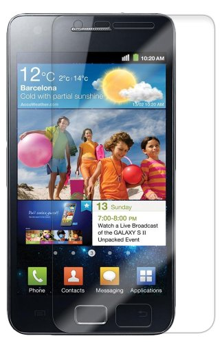 Samsung Galaxy S2 Screen Protector (Interntional Version), Skinomi TechSkin Full Coverage Screen Protector for Samsung Galaxy S2 Clear HD Anti-Bubble Film