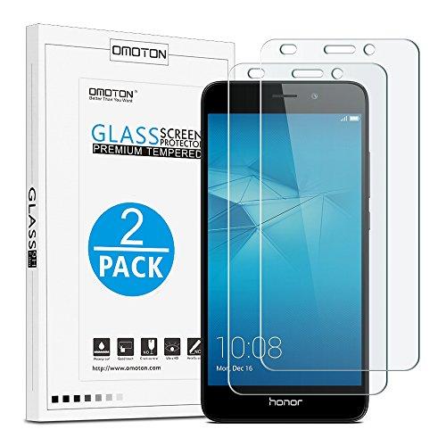 [2 Pièces] Huawei Honor 5C Film Protection D'écran Verre Trempé (0,26mm HD ) OMOTON Protecteur Ecran