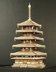 1/100 木製建築模型 法隆寺 五重塔(リニューアル版)