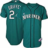 img - for 2015 Ken Griffey Jr Seattle Mariners Authentic Alternate Green Cool Base Jersey (40) book / textbook / text book