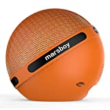 Marsboy Orb Portable Hifi Stereo 7 Kinds of LED Show Wireless Bluetooth Speaker with TWS- Orange
