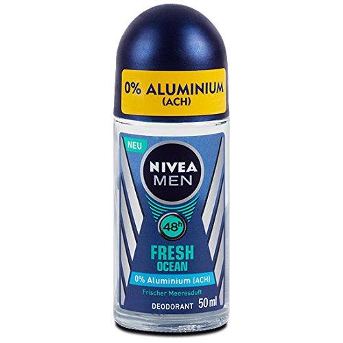 Nivea Men Fresh Ocean Aluminum Free 48h Deodorant Roll-On 50 ml / 1.7 fl oz (Aluminum Free Deodorant For Men compare prices)
