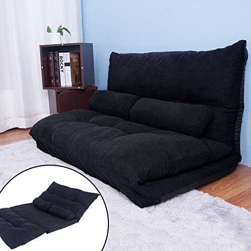 life-carver-adjustable-floor-double-sofa-bed-thicken-padded-cushion-seat-chair-folding-mattress-blac