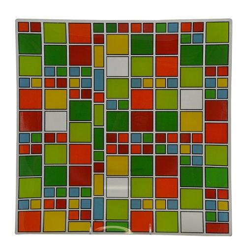 "Been Around The Block Tempered Glass Dinner Platter (13""X13"")"