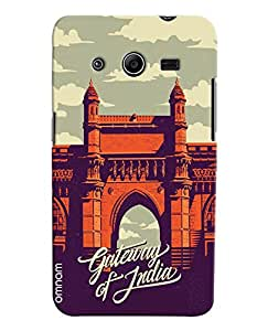 Omnam Gate Way Of India Art Printed Designer Back Cover Case For Samsung Galaxy Core 2