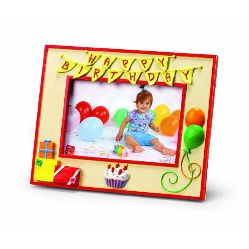 "Russ Berrie Happy Birthday 4"" x 6"" Photo Frame (Discontinued by Manufacturer)"