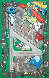 HR2039 Large Airport Playset Playmat (FELT) 41 1/4 X 31 1/2 Inches