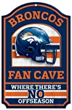 "Denver Broncos Wood Sign - 11""x17"" Fan Cave Design at Amazon.com"