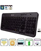 Logitech Wireless Desktop K360 Clavier sans-fil Six touches de raccourci Unifying 12 touches de fonctions programmables AZERTY Noir