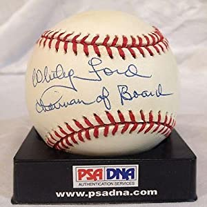 Whitey Ford Signed Baseball - Rare Inscribed Chairman Of The Board Al - PSA DNA... by Sports Memorabilia