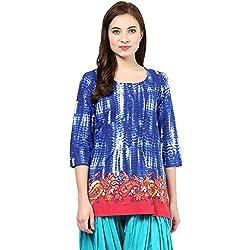Akkriti by Pantaloons Women Kurta (205000005575062_ Blue_ Medium)