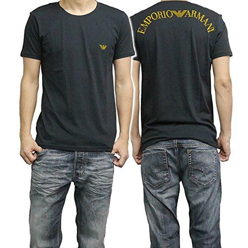 (エンポリオアルマーニ)EMPORIO ARMANI SWIMWEAR メンズクルーネックTシャツ 211123 5P451 ブラック [並行輸入品]