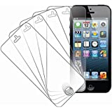 iPhone 5S / 5 / 5C Screen Protector Cover, MPERO 5 Pack of Ultra Clear Screen Protectors for Apple iPhone 5 / 5S / 5C